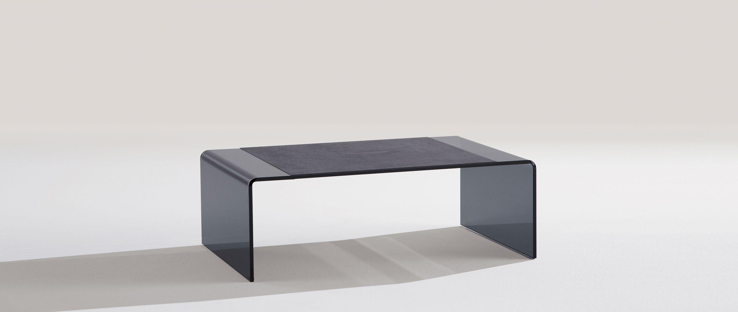 table basse rimini plateau en ceramique grise