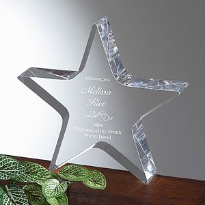 Reflections of Excellence Personalized Star Award