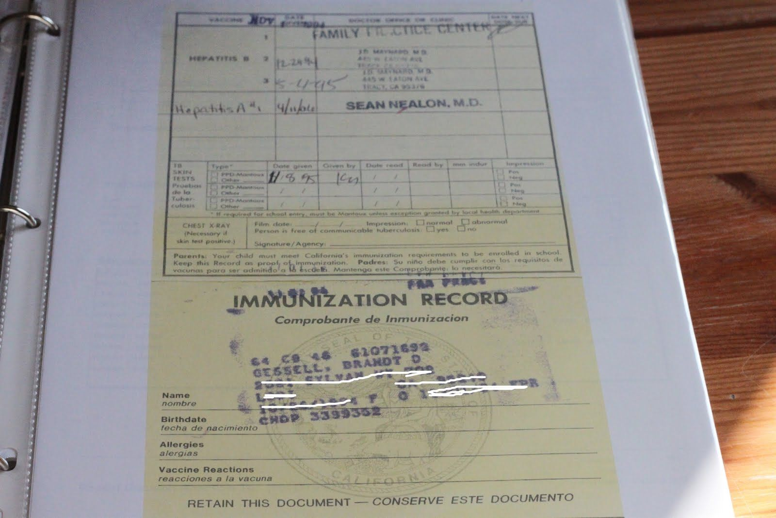 Emergency Binder To Keep In Safe Birth Certificates Marriage