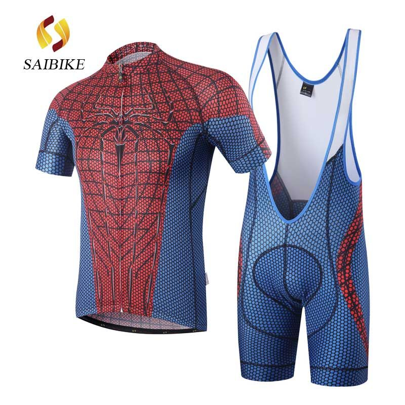saiBike Cycling Jersey Set Red Spiderman cycling BiB shorts set Bike Riding  MTB Short Sleeve Cycling Suit ropa ciclismo clothes  Affiliate 1e2ed948c
