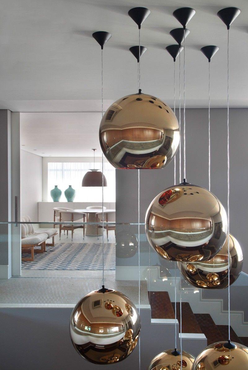 Lighting Design metallic bubble pendant lights