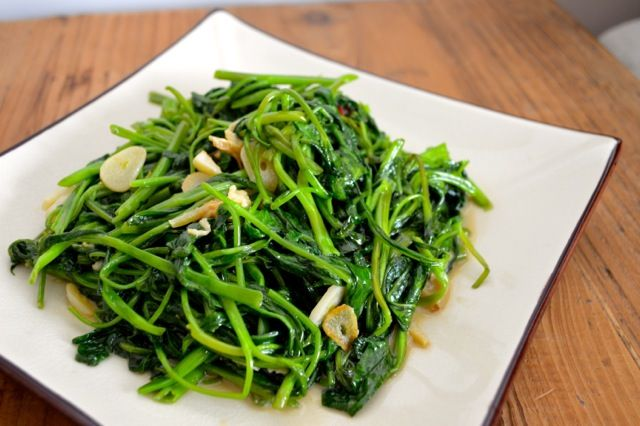 Stir Fried Water Spinach with Fermented Tofu   Recipe   Water spinach,  Asian vegetables, Chinese vegetables