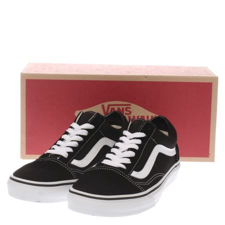 womens vans black & white old skool trainers