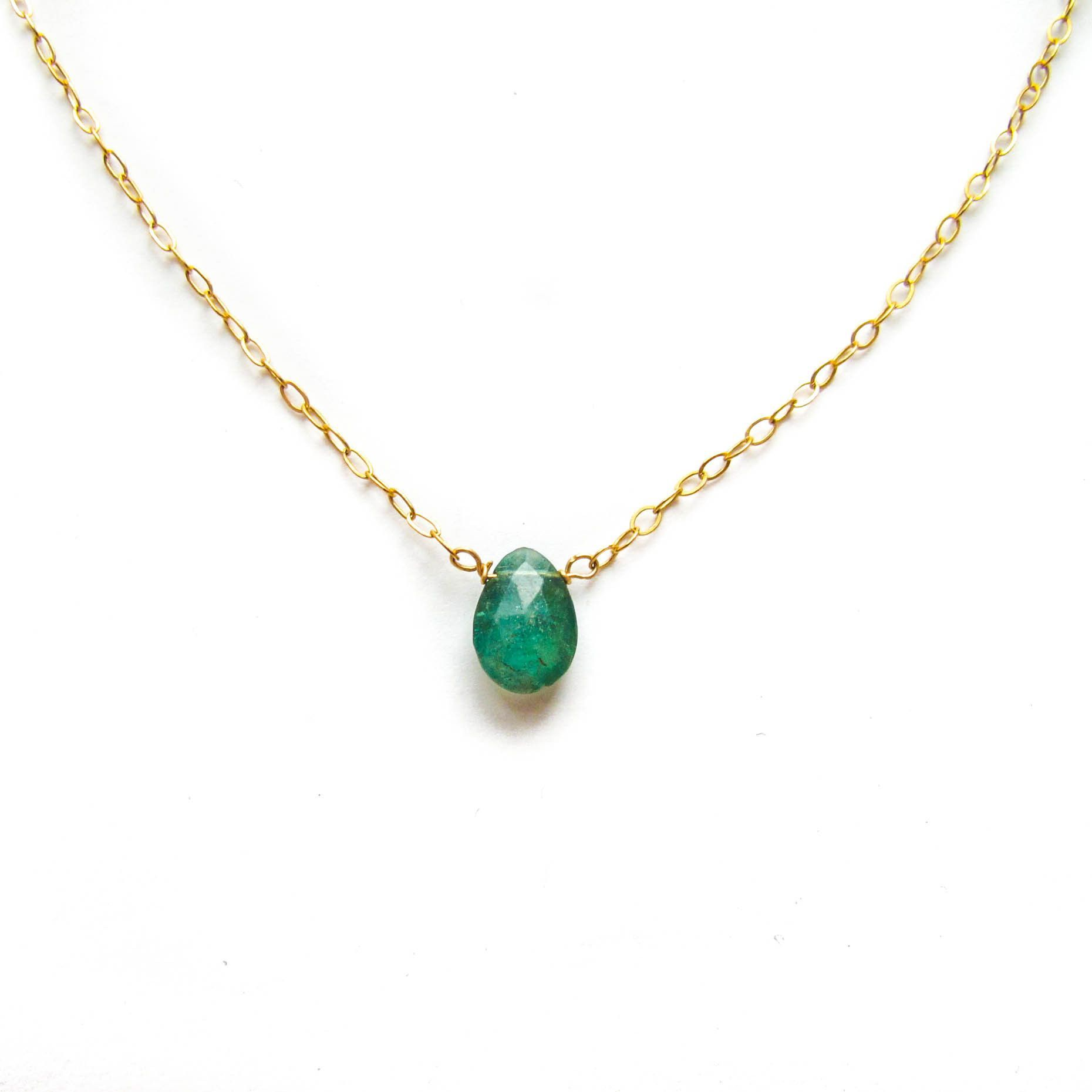 Emerald green apatite short pendant my style pinterest items similar to emerald green apatite necklace dainty unique green apatite pendant with delicate gold filled chain green gem chain necklace on etsy mozeypictures Gallery