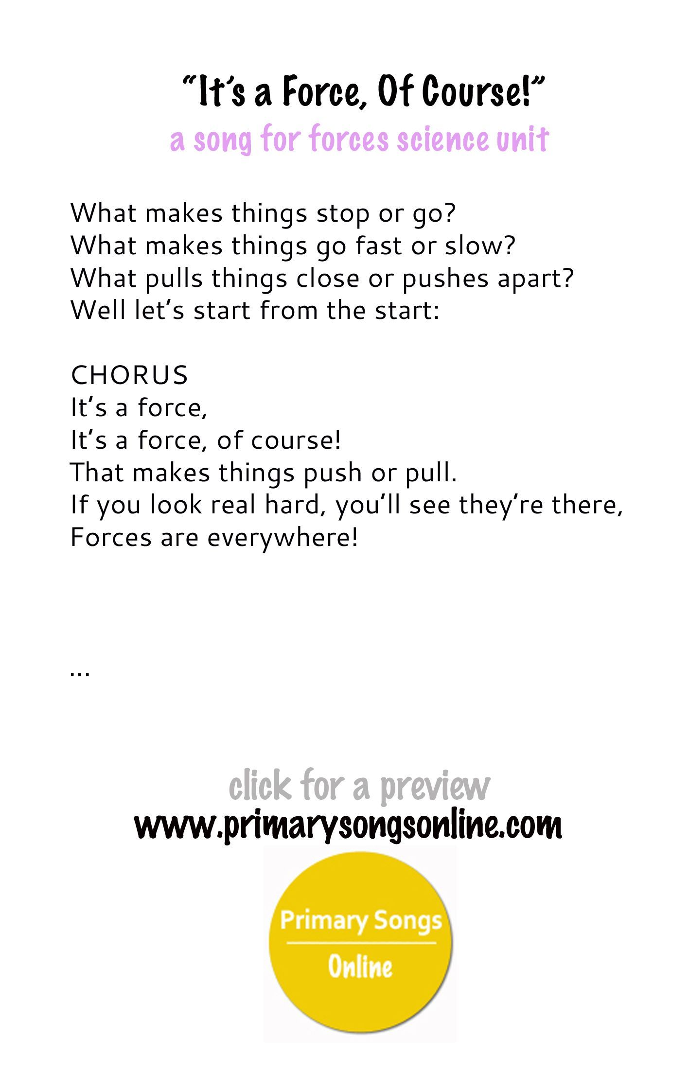 Image Result For Preschool Songs About Physics