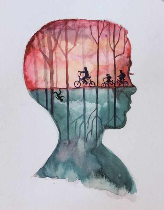 ORIGINAL Eleven Stranger Things Watercolor Painting images