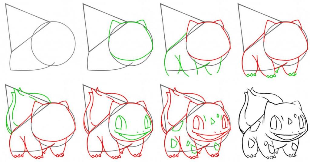 How To Draw Bulbasaur Pokemon Drawings Drawings Bulbasaur