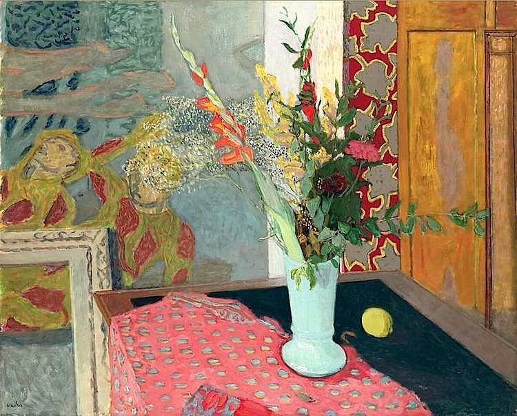 Maurice Brianchon (1899-1979) was one of the best known painters of his generation in France. Winner of the Prix Blumenthal in 1924, he was one of the most influential masters at the Ecole des Beaux Arts and remains the only real successor in France to the tradition and intimacy of Bonnard and Vuillard.Theatre scenes, still lifes, portraits and compositions form an ensemble varied in subject but with a common technique. No surface is completely flat or inert, no color smooth.
