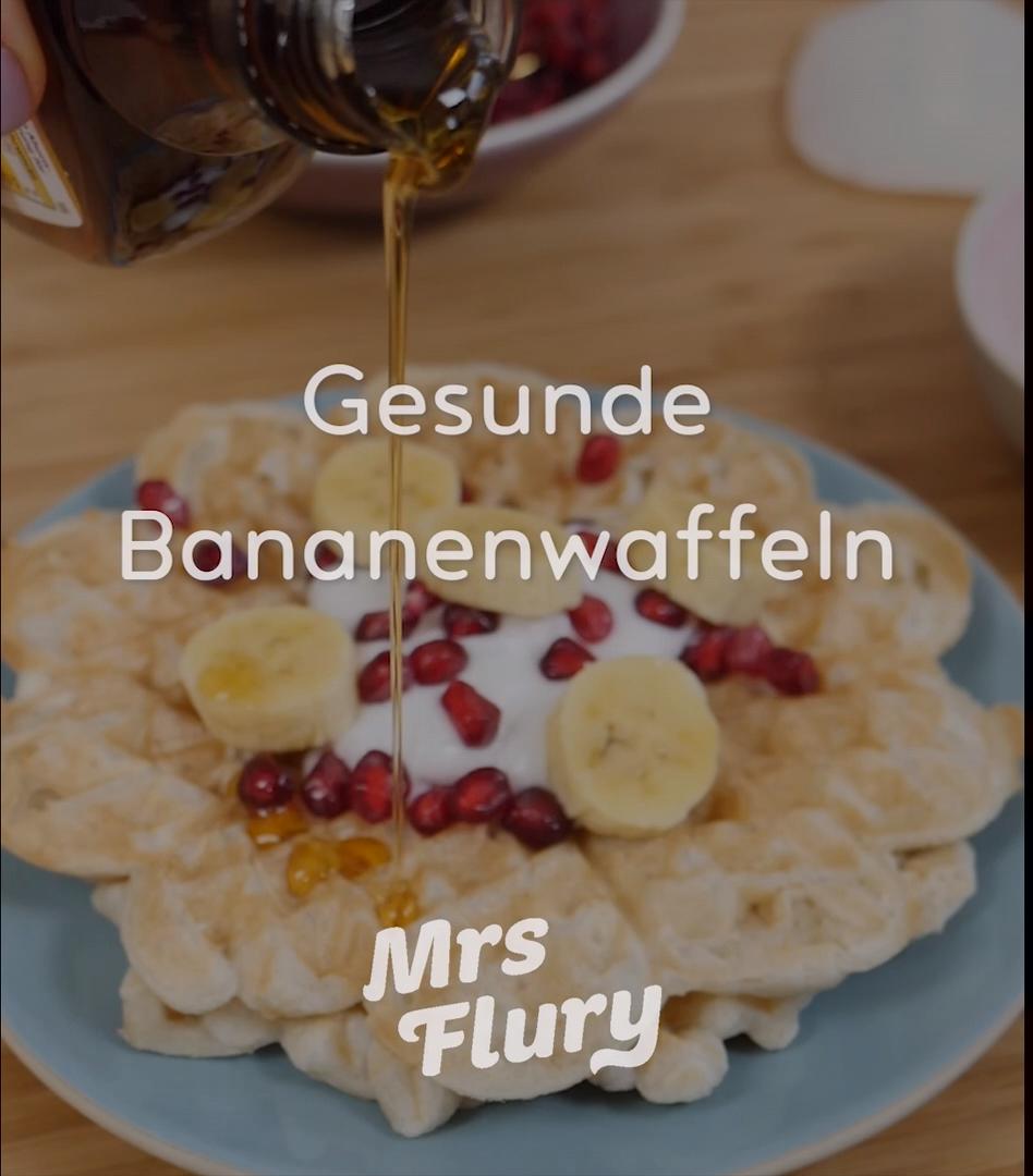 Gesunde Bananen Waffeln vegan #frühstückundbrunch