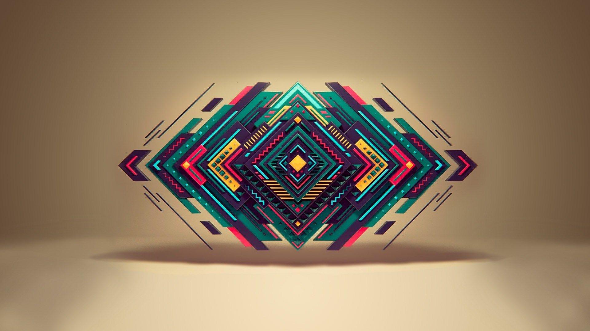 Abstract Shapes Geometry Hd Wallpaper Freehdwall Net High Definition Wallpapers For Your Desktop Fond D Ecran Abstrait Geometrie Abstrait