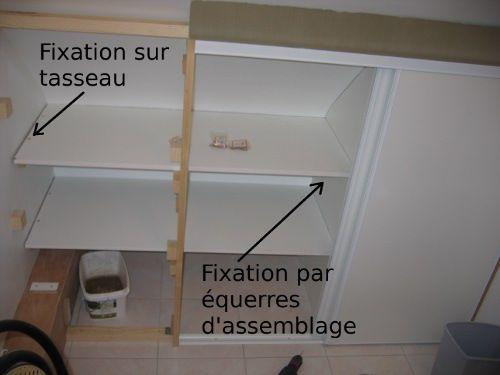 Faire soi-même ! - Placard sous pente - Montage des étagères sous - fixation porte de placard