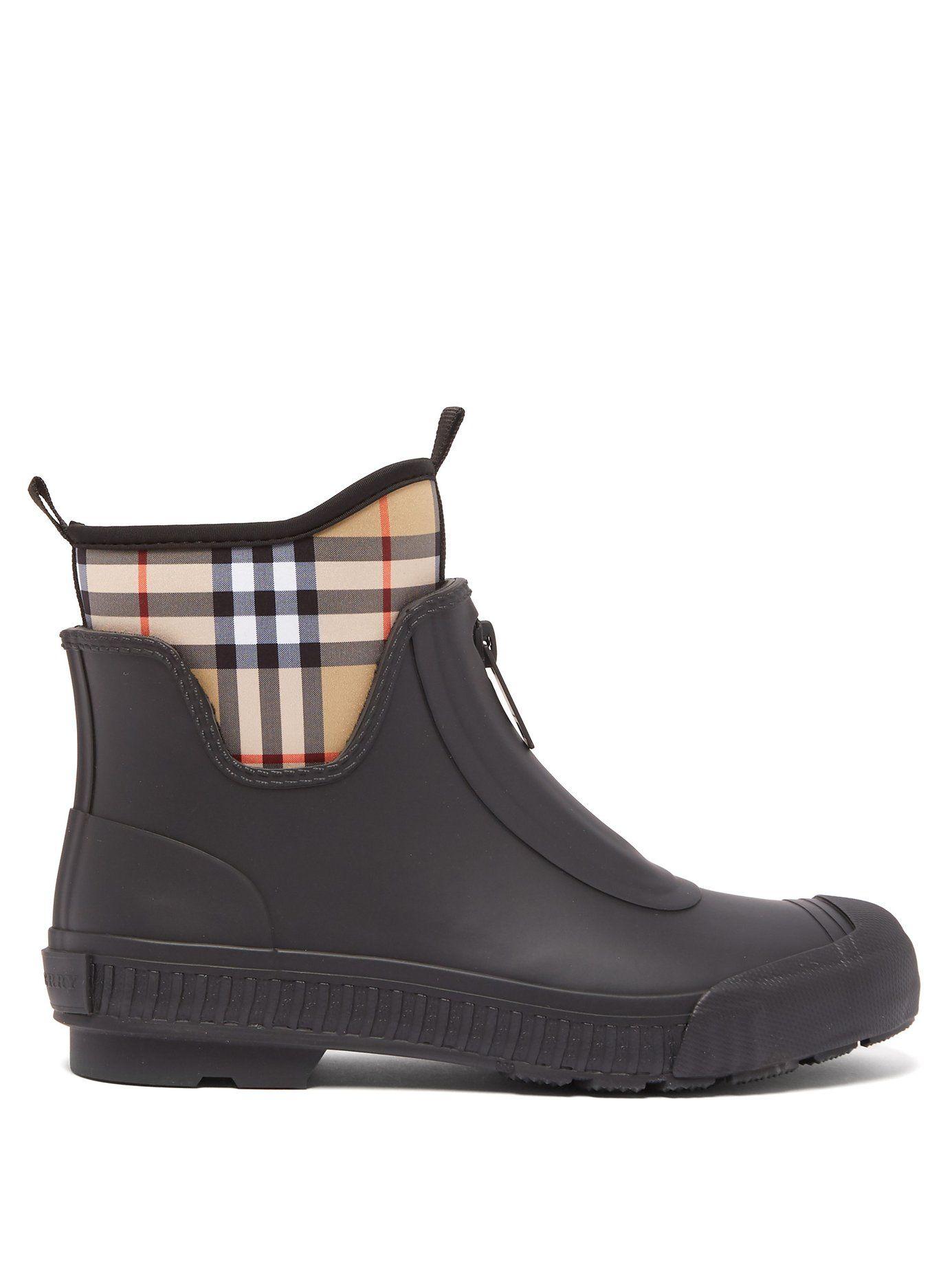 2b0adaf1b3b Flinton Vintage-checked boots | Burberry | MATCHESFASHION.COM US ...