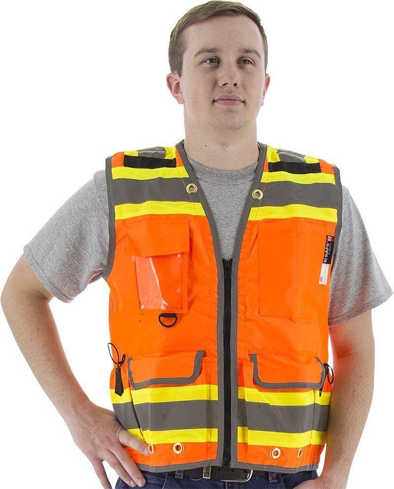 Majestic 753236 hi vis orange premium heavy duty safety
