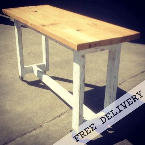 details about rustic kitchen island high bench bar dining