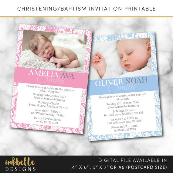 Christening Baptism Invitation Editable Template Instant Etsy Baptism Invitations Invitations Christening Cards