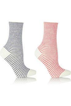 Falke Set of two striped cotton-blend socks | NET-A-PORTER