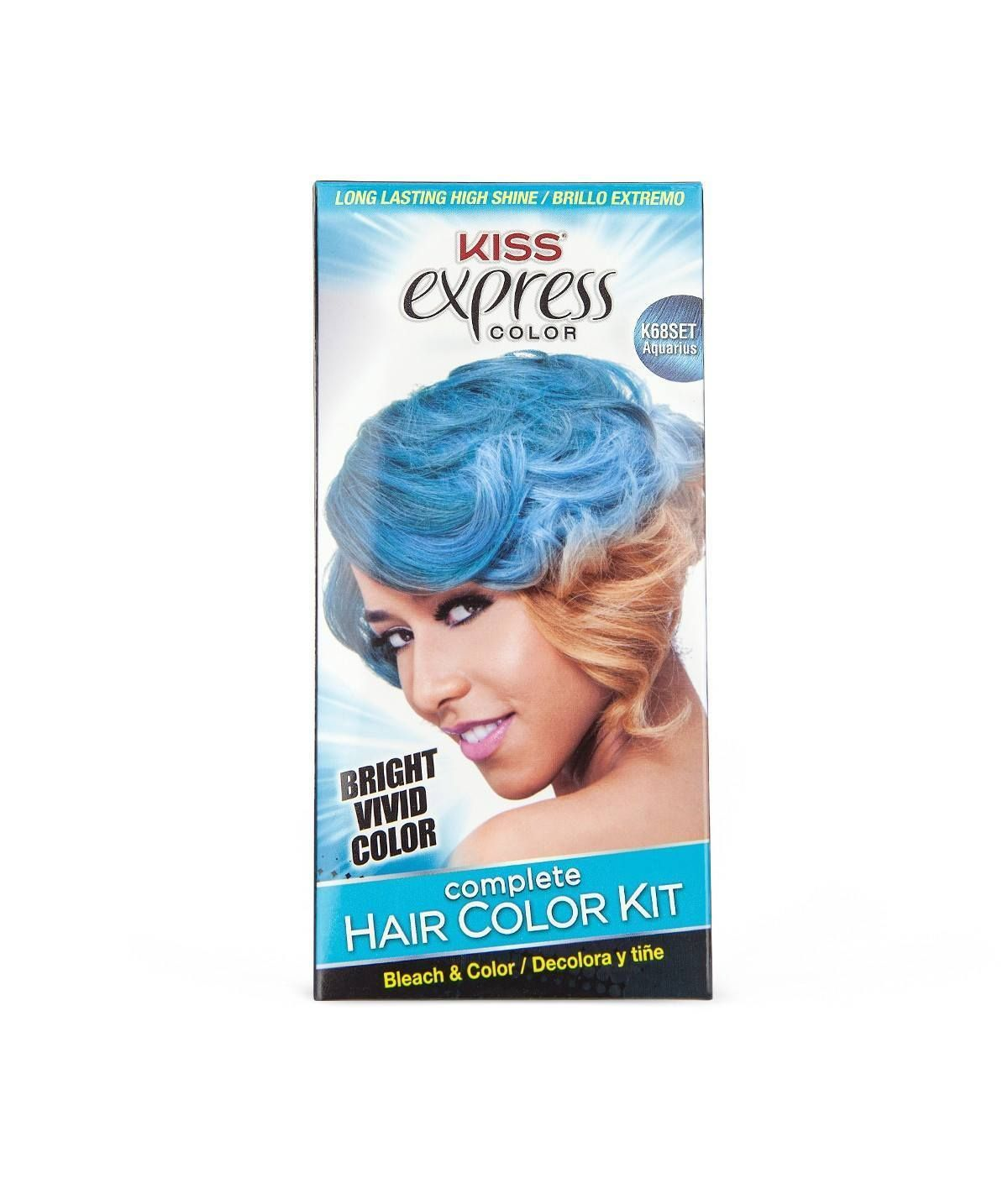 Kiss express color semipermanent hair color kit color kit semi