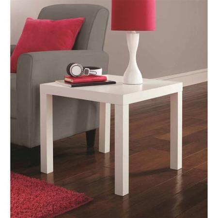 Admirable Mainstays Parsons Square End Table Multiple Colors Big Machost Co Dining Chair Design Ideas Machostcouk