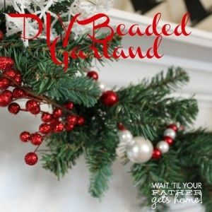 Diy Christmas Garland Ideas Diy Beaded Garland Christmas Garland Beads Christmas Ideas Diy Christmas Garland Christmas Garland Christmas Diy