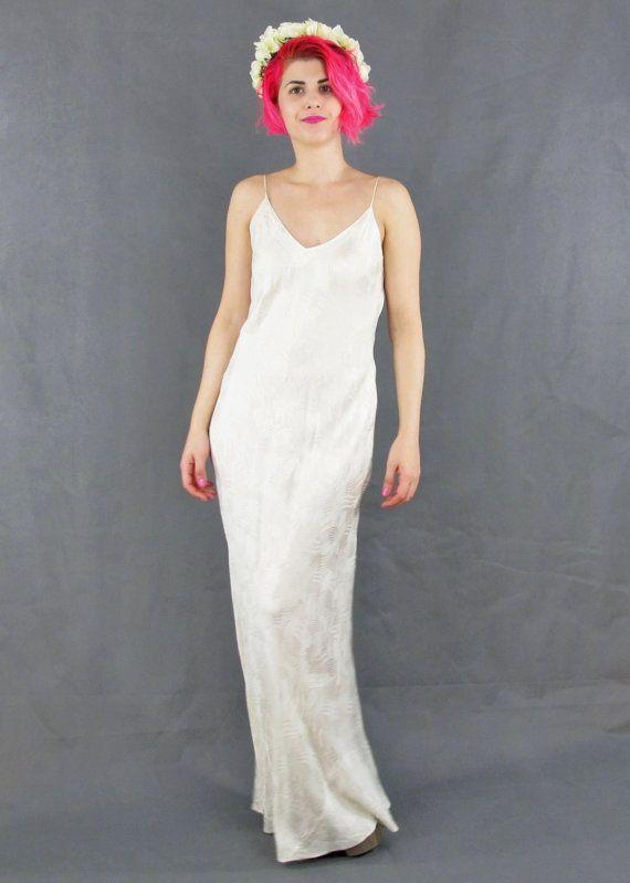 Fabulously minimal vintage cream silk slip dress by Vancouver ...