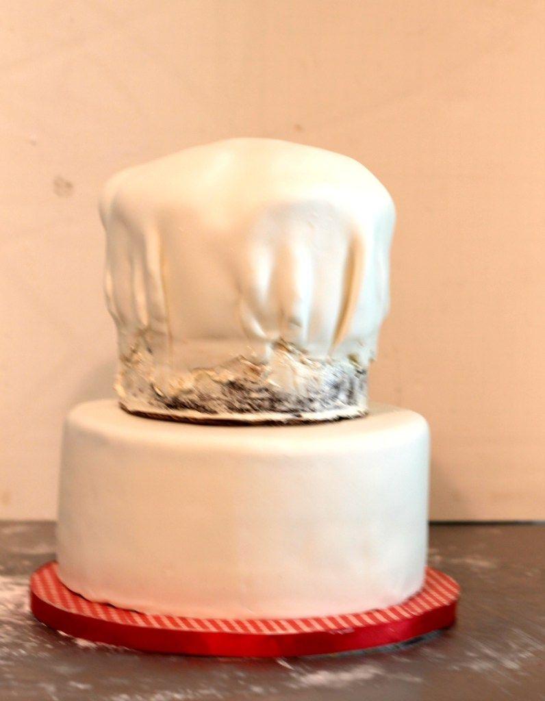 tutorial de como hacer una tarta en forma de gorro chef  b976b0f6b14