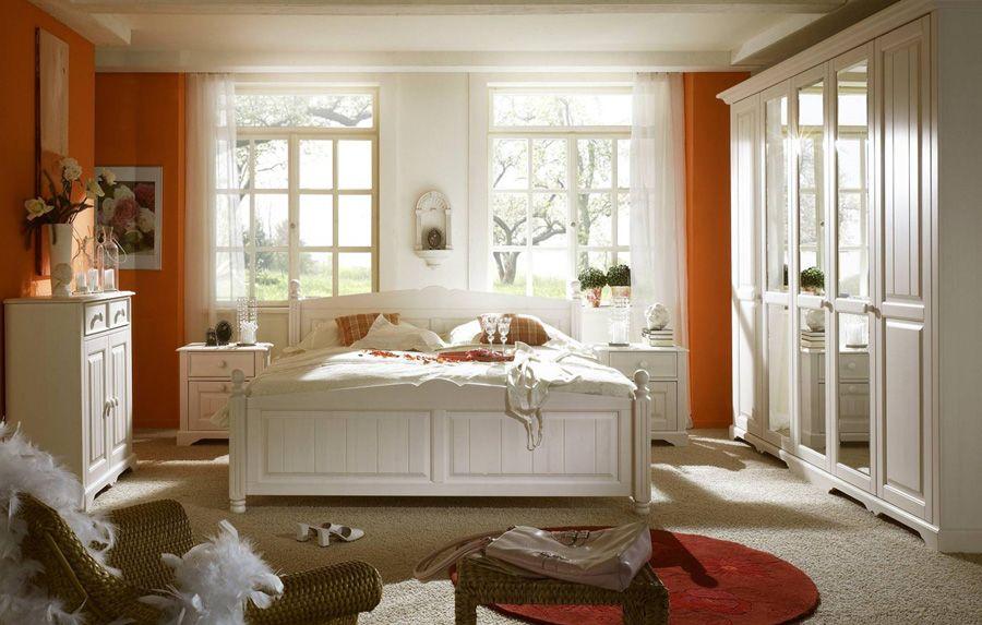 Schlafzimmer Pisa Kiefer massiv weiß Landhausstil XXONE MÖBEL - Schlafzimmer Landhausstil Weiß