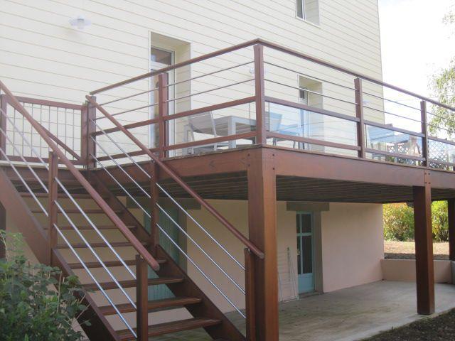 Terrasse pilotis Terrasse Maison en 2018 Deck, Balcony et Patio - Terrasse Sur Pilotis Metal