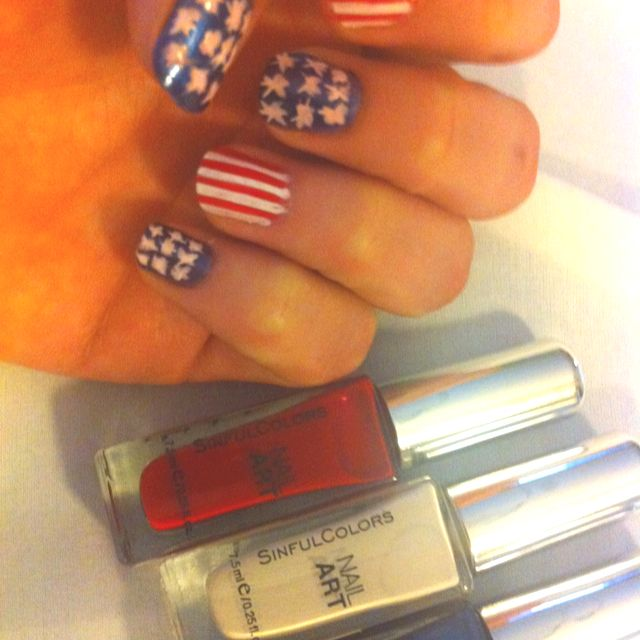 USA USA USA - nail polish from Walgreens