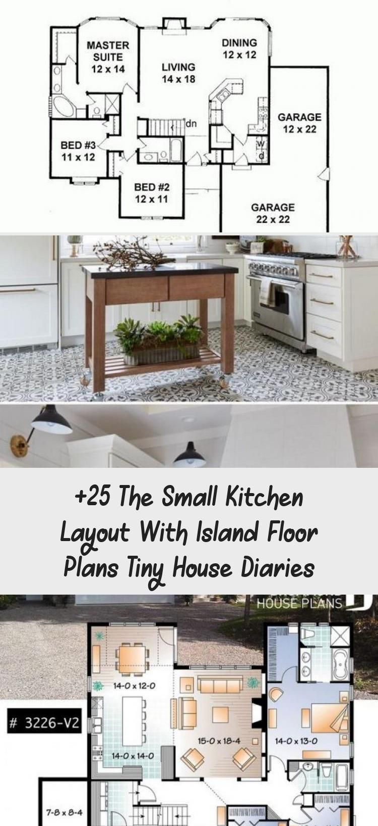 25 The Small Kitchen Layout With Island Floor Plans Tiny House