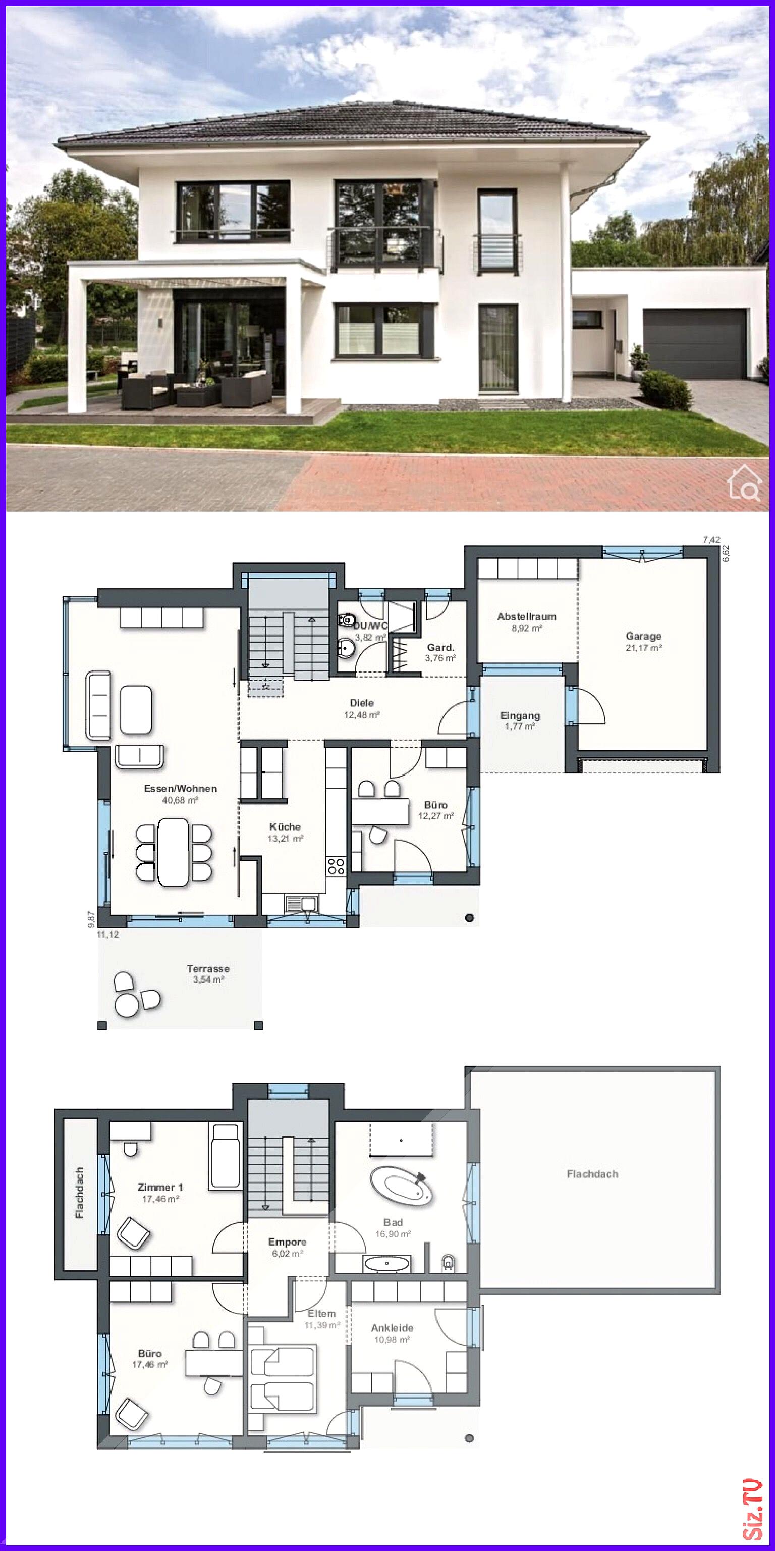 Moderne Stadtvilla mit Garage 038 Walmdach Architektur 5