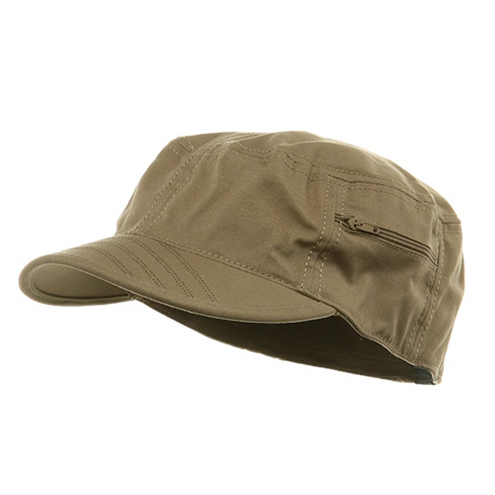Canvas Army Fitted Cap Khaki Women Hats Fashion Hats For Men Fitted Hats