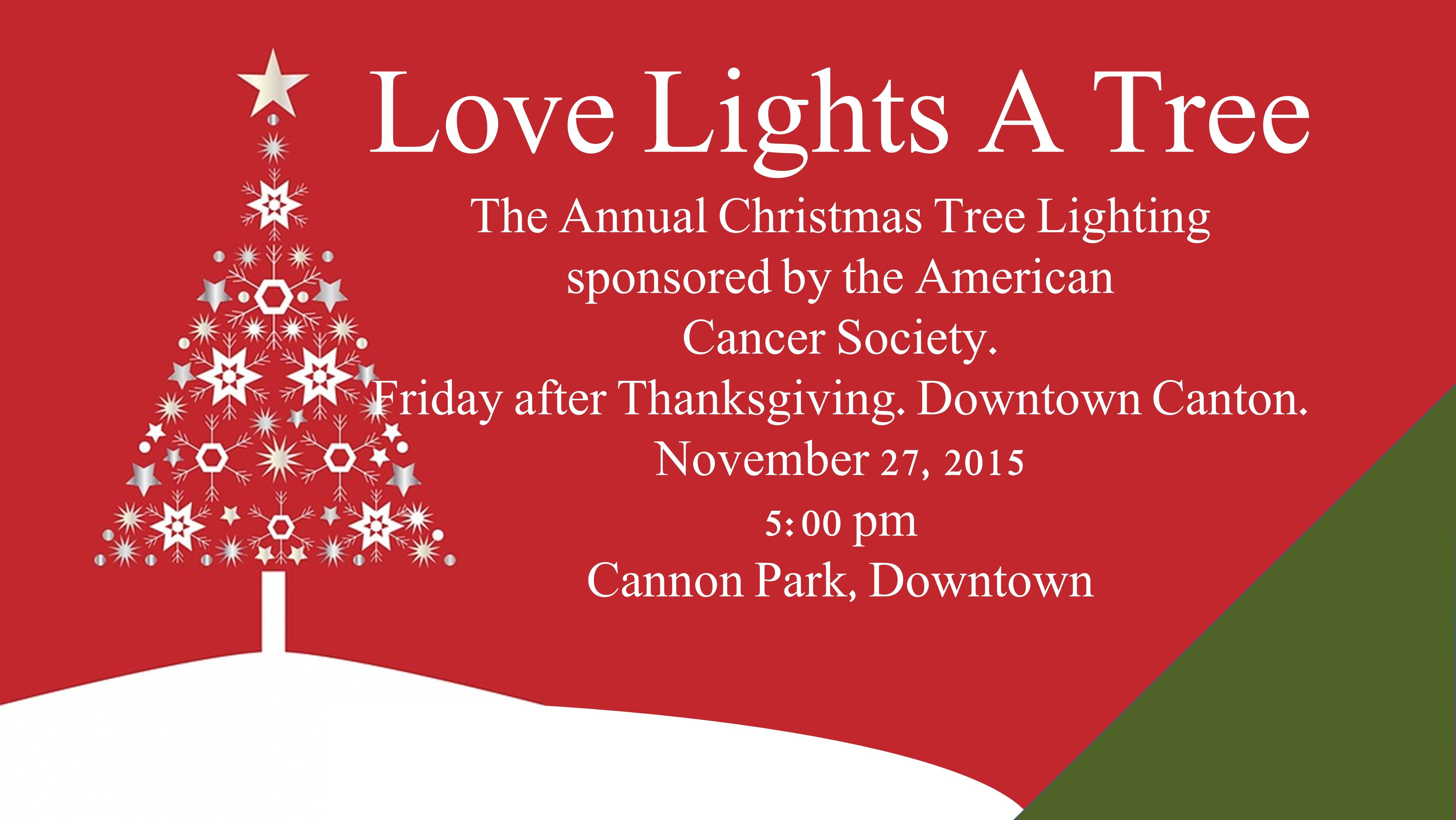 The Annual Love Lights a Tree sponsored by the Cherokee Chapter of ...