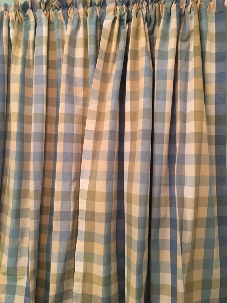 Country Curtains Stockbridge Ma Moire Plaid Drapes Usa Blue Aqua Cream Green Countrycurtains Country Curtains Home Window Treatments