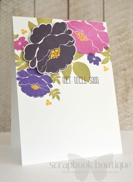 Having a golden time at scrapbook boutique video flower cards lostinpaper sb video get well soon flower card m4hsunfo