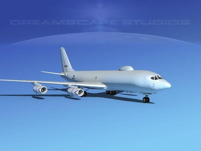boeing 707-e6b mercury 3d model rigged max obj 3ds lwo lw lws dxf dae 3