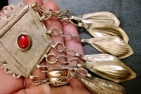 Let's go Kuchi... Gorgeous authentic Vintage Kuchi tribe belly dancing pendant.