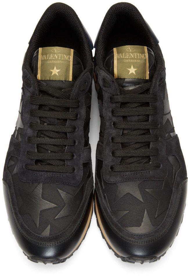 e958ac6d2bc1 Valentino - Black Camo Rockrunner Sneakers
