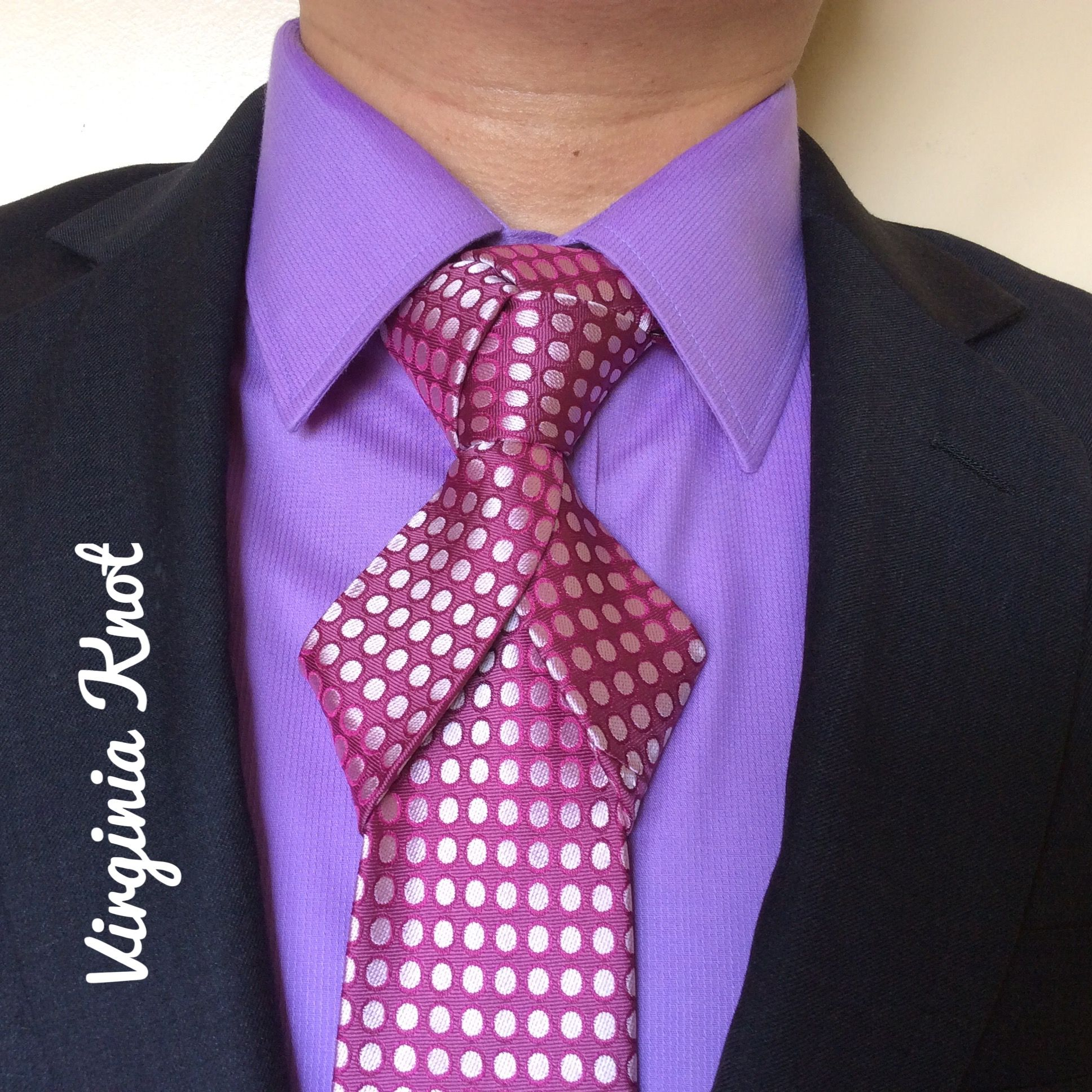 Tie Styles: Virginia Knot Created By Noel Junio. It Is A Combination