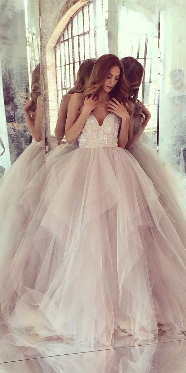 27 Peach Blush Wedding Dresses You Must See Wedding Forward Wedding Dresses Blush Peach Blush Wedding Dress Wedding Dresses