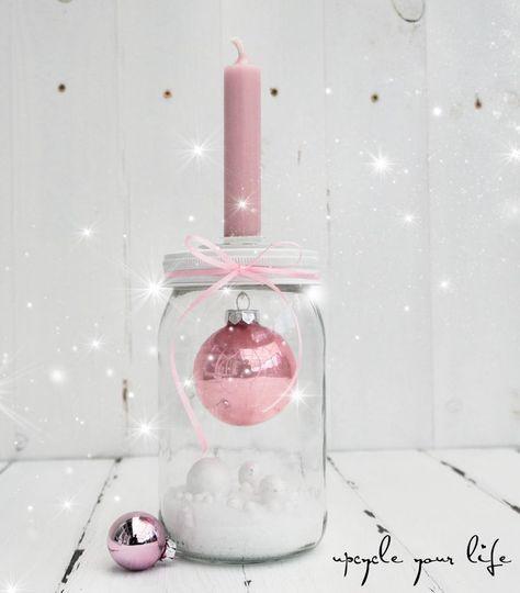 kugel im glas... kerzenhalter deko... #adventskranzideenkinder