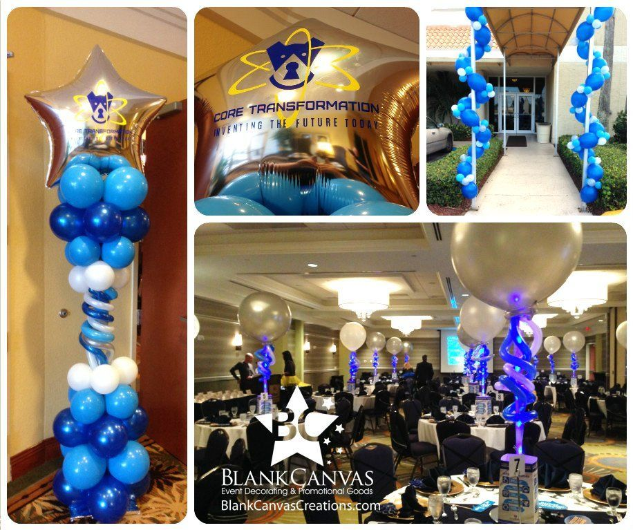 Melbourne Fl Event Decorating Blog Corporate Event Decor For Space Coast Cred Blog In 2020 Corporate Events Decoration Event Decor Custom Logo Balloons