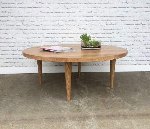 Stunning Solid White Oak Coffee Table Hand Turned White Oak Legs 36 W X 15 H