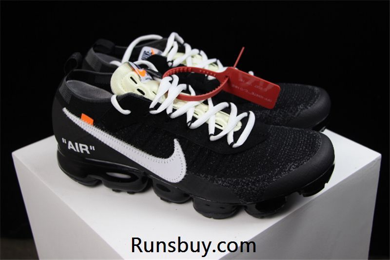 Nike Air VaporMax 2018 OW Flyknit Black WHITE x Nike O Nike Air