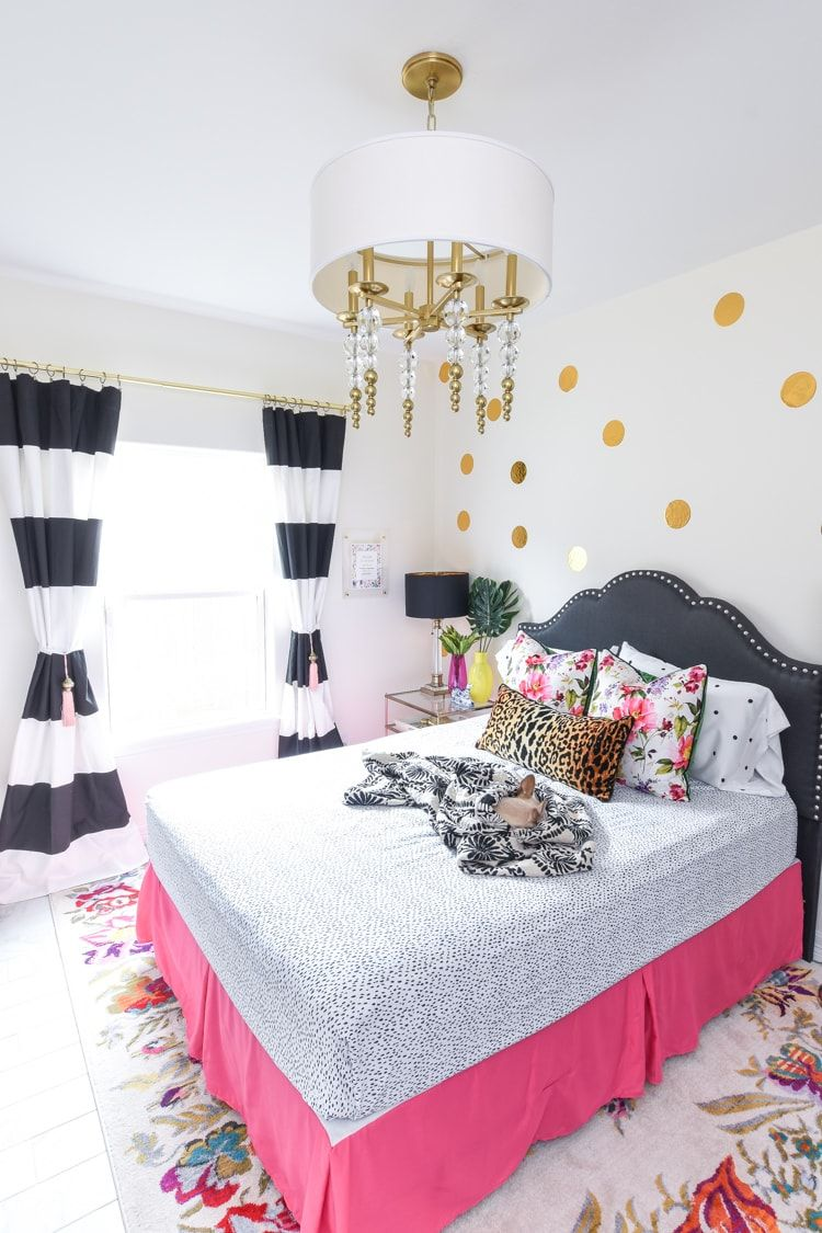 Hot Pink Bedroom: Guest Bedroom Decor: Room Reveal