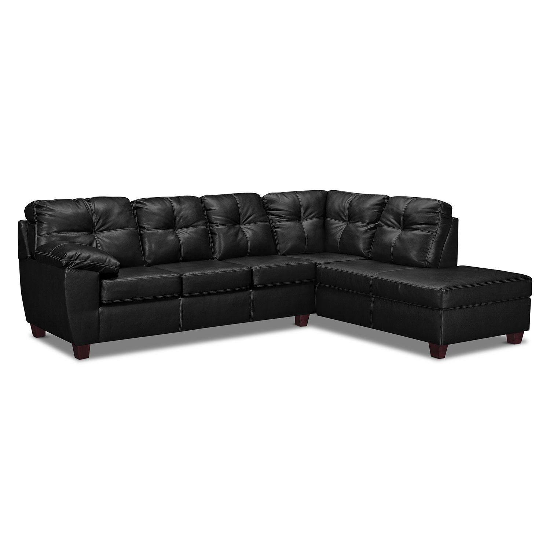 Groovy Living Room Furniture Rialto Onyx 2 Pc Sectional With Inzonedesignstudio Interior Chair Design Inzonedesignstudiocom