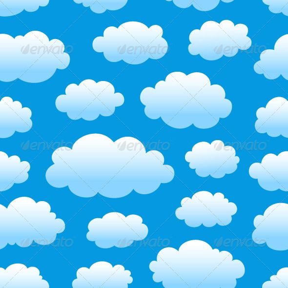 Cloudy Sky Pattern Cartoon Clouds Clouds Cartoon Styles