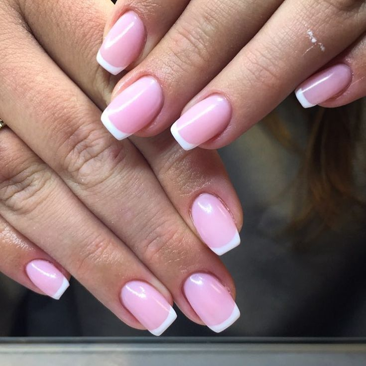 90+ french tip acrylic nails square 2018 | Nail nail, Funky fingers ...