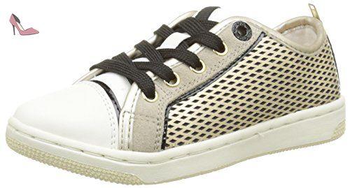Geox Creamy F, Sneakers Basses fille, Or (C2005), 33 EU