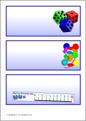 Editable blue classroom resource labels (SB9475
