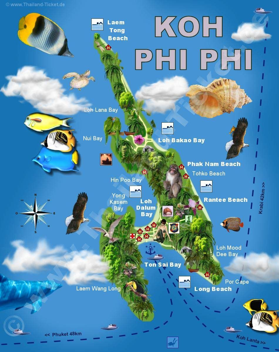 Koh Phi Phi Map Nachleben Koh Phi Phi I Have To See In